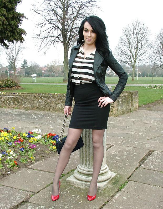 Femme sexy en collants